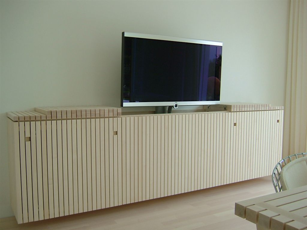 flachbildschirm m bel f r plasma tv versenkbar flachbild. Black Bedroom Furniture Sets. Home Design Ideas
