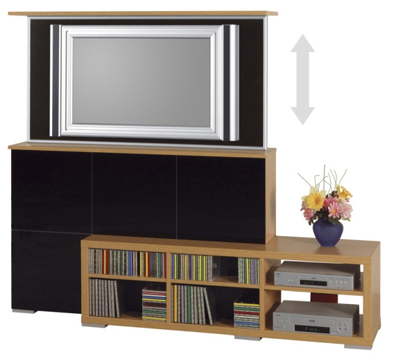 tv m bel design made by flatlift tv lift projekt blog. Black Bedroom Furniture Sets. Home Design Ideas
