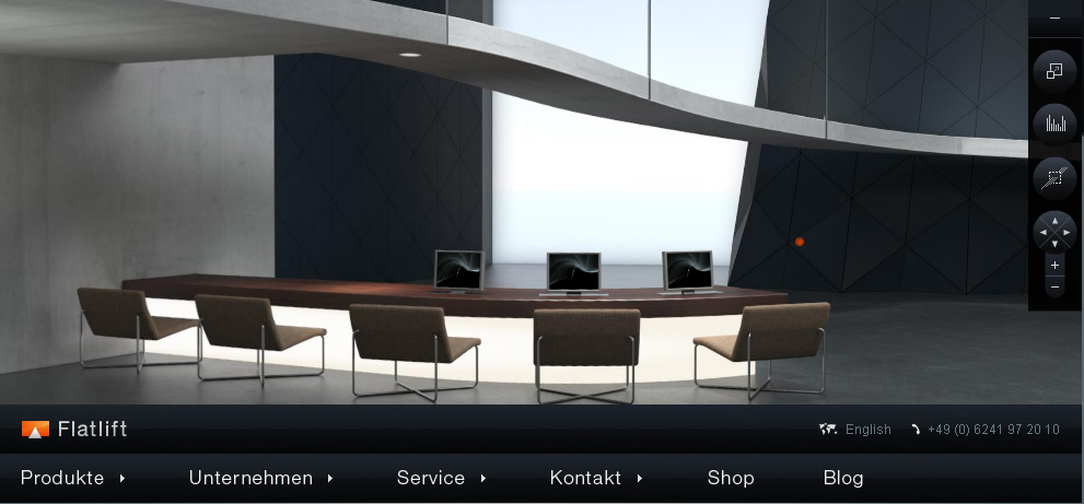 In unserem 360° Showroom zeigen wir verschiedenste Lösungen für ergonomische Flachbildschirm und Monitor integration am Arbeitsplatz
